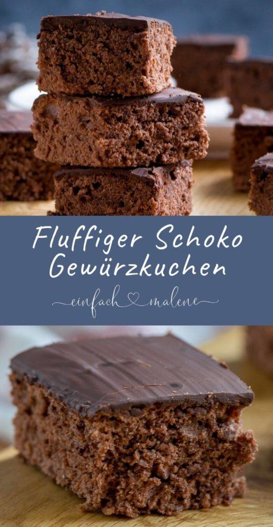 Der perfekte Kuchen für die Vorweihnachtszeit - der Gewürzkuchen kann mit Schokolade oder Zuckerguss überzogen werden. Einfaches Rezept, mega köstlich.