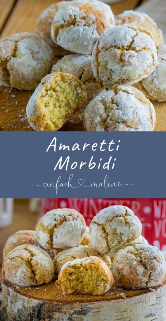 Die Amaretti Morbidi schmecken nach Marzipan, obwohl gar keines verwendet wird. Sie sind innen weich, außen schön mürbe und mit Pistazien der Knaller! #weihnachten #mandeln #marzipan #amaretto #italienischesgebäck #Pistazien