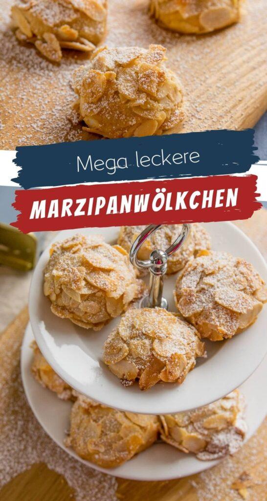 Dieses leckere Marzipangebäck wirst du lieben! Die Marzipan Wölkchen mit Mandeln sind absolut köstlich und der perfekte Marzipankeks für alle, die in der Weihnachtszeit ebenso verrückt sind nach Marzipan wie ich es bin. Und das beste an dem Marzipanwölkchen? Du brauchst nur 4 Zutaten zum Backen. Klingt ziemlich perfekt oder? #weihnachten #marzipan