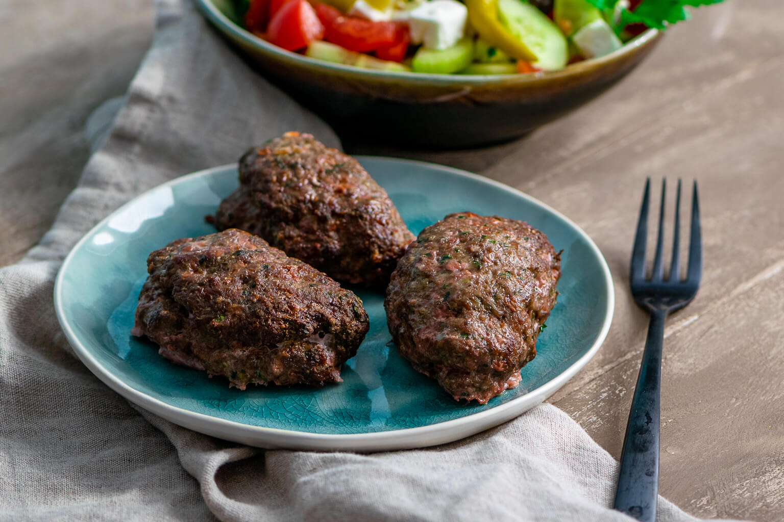 Leckere Mini Bifteki aus der Heissluftfritteuse