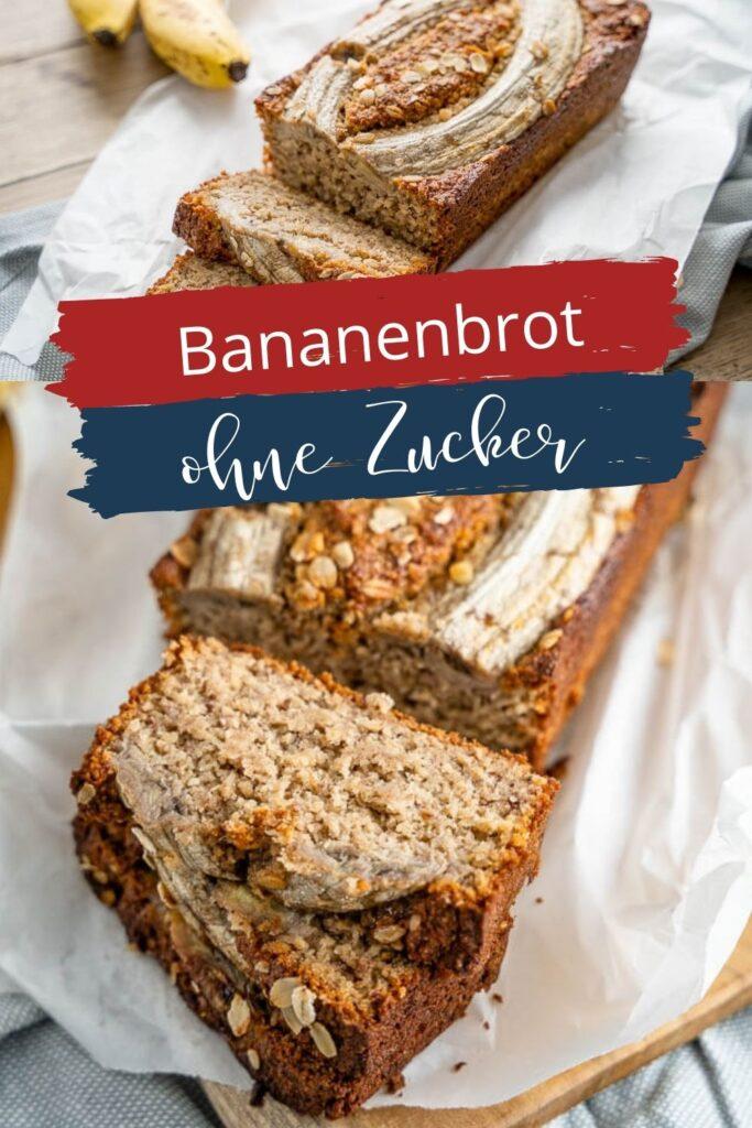 Tolles Rezept für Bananenkuchen. Backe das Bananenbrot mit Bananen, Haferflocken, gemahlenen Nüssen, Zimt & Dinkelmehl. Optional mit Ahornsirup oder Honig.