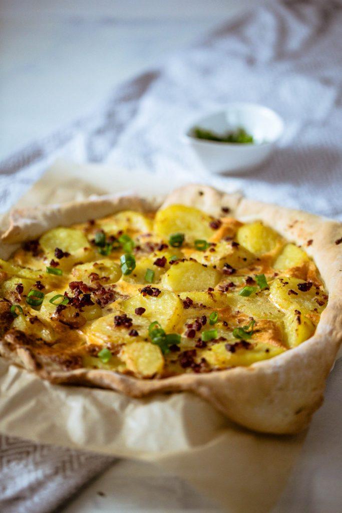 Herzhafte Bratkartoffel-Tarte mit und ohne Thermomix®