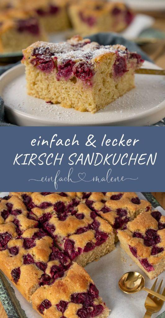 Das Rezept für den Kirschkuchen ist extrem einfach, du wirst es lieben. #kuchen #blechkuchen #kirschkuschen #kuchenrezepte #schattenmorellen