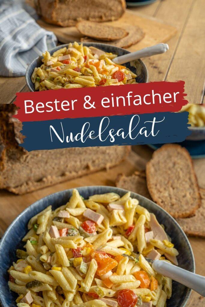 Unser bester Nudelsalat mit Mayonnaise - nicht nur eine perfekte Grillbeilage. Der Nudelsalat ist perfekt für jeden Anlass und ist super schnell zubereitet - auch vegetarisch o. vegan. #Salate #pasta #grillen #bbq #Nudelsalate #Klassiker