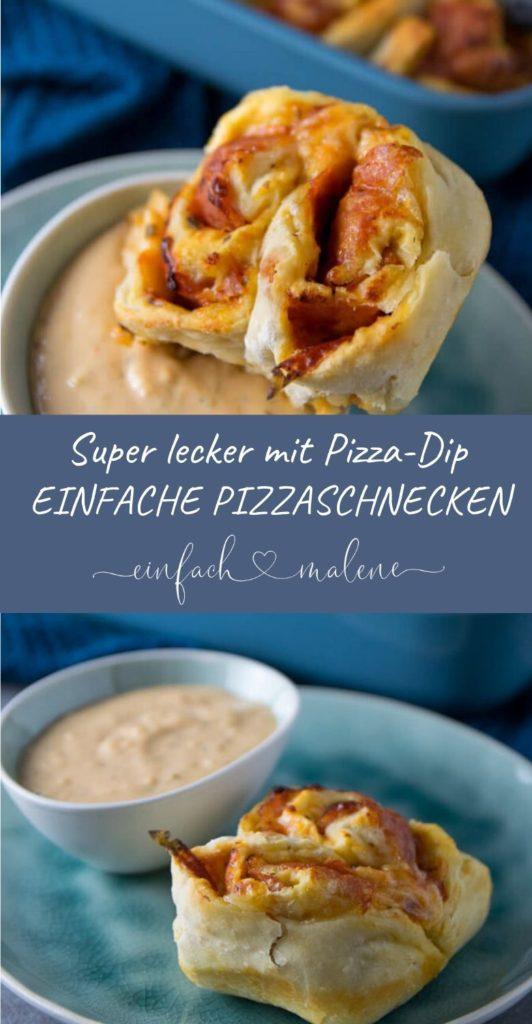 Selbermachen statt Bestellen: Pizzaschnecken mit genialem Pizza Dip. Diese Pizzaschnecken werden alle lieben, die gerne Snackrolls mit Pizza Dip bestellen. Das Rezept ist super einfach und der Pizza Dip schmeckt wie bei Smileys. #snack #pizza #hefe #partyfood