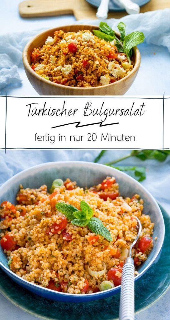 Heute gibt es einen sommerlichen Bulgursalat, denn in diesem Jahr ist dieser türkischer Kisir mein liebster Salat zum Grillen. Die Zubereitung ist super easy, er schmeckt sehr aromatisch und ist eine tolle Sättigungsbeilage. #türkisch #salat #bulgur #beilage #tomaten #sommer #sommerrezepte #sommerküche