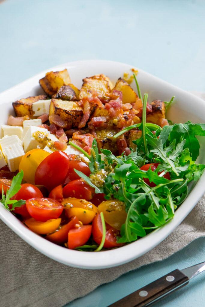 schmeckt lauwarm oder kalt - Kartoffelsalat mit Honig-Senf Dressing