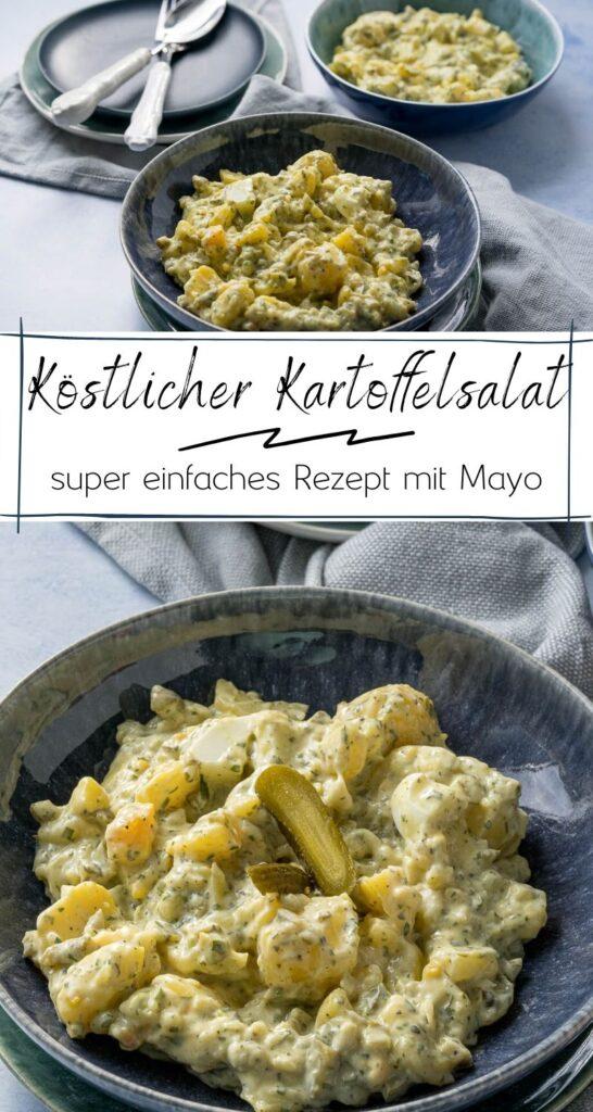 Der beste Kartoffelsalat ist und bleibt der norddeutsche Klassiker mit Mayonnaise. Das Rezept ist super, denn er wird perfekt - mit Gurken, Senf und Ei. #einfacherezepte #kartoffelsalat #norddeutscherezepte #bbq #grillen #grillbeilage #mayo