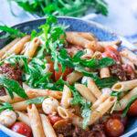 Penne Salat mit Rucola