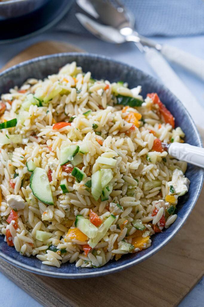 vegetarischer Kritharaki Salat