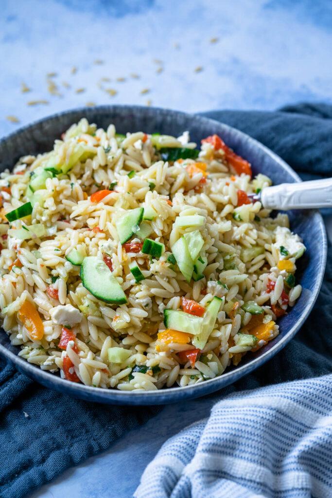 Kritharaki Salat oder auch Risoni Salat