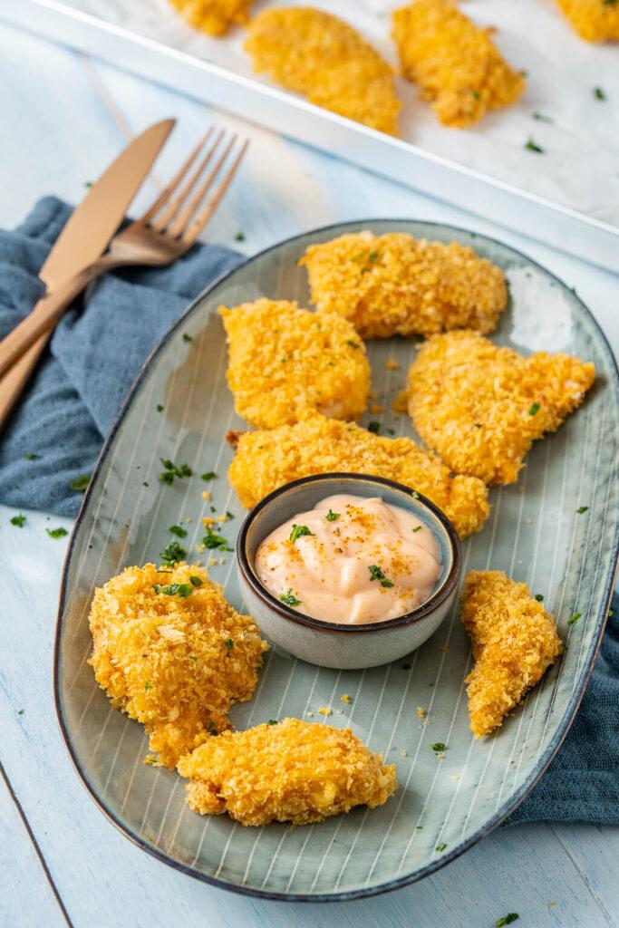 Perfekte Ofenschnitzel - Crispy Chicken aus dem Ofen