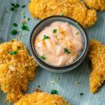 Perfekte Ofenschnitzel - Crispy Chicken aus dem Ofen - Mit gerösteten Pankobröseln und Parmesan