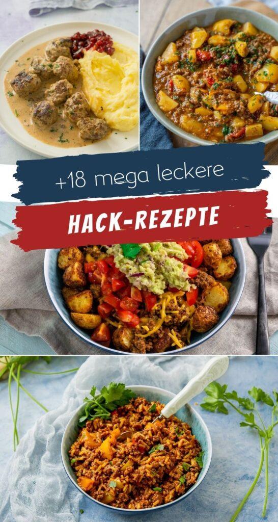 Ich liebe es mit Hackfleisch zu kochen, denn man kann leckere Gerichte in kurzer Zeit super easy zubereiten. Hier findest du 18 Rezeptideen zur Inspiration. Bist du auf der Suche nach tollem Rezeptideen für die Zubereitung von Hackfleisch? Ich habe bereits so viele tolle Rezepte auf dem Blog, meine Auswahl möchte ich dir heute vorstellen. Es sind auch viele ältere Rezepte aus den letzten Jahren dabei, die auf dem Blog etwa untergehen.  Eines haben aber alle gemeinsam: Sie sind köstlich und lassen sich einfach zubereiten. Ob Köttbullar Pasta, Lauchsuppe, Lasagne oder Hackfleisch-Brote. Ich finde die Rezepte alle einfach mega gut! #hackfleisch #einfacherezepte #feierabendküche