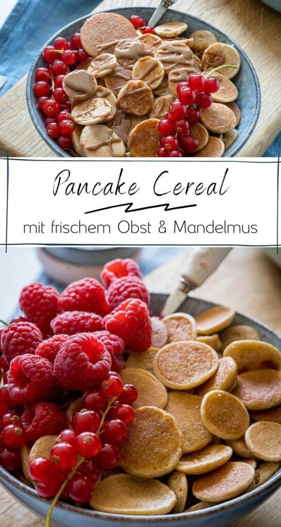 Das Mini Pancake Müsli geht derzeit absolut viral. Kein Wunder, es ist ist zauberhaft und einfach zuzubereiten - es erfordert nur ein wenig Zeit und Geduld. Du kannst die Pancakes wunderschön anrichten und nicht nur Kinder werden verrückt nach diesem Frühstück sein. #frühstück #familiengerichte #rezepte #pancakes #bowls