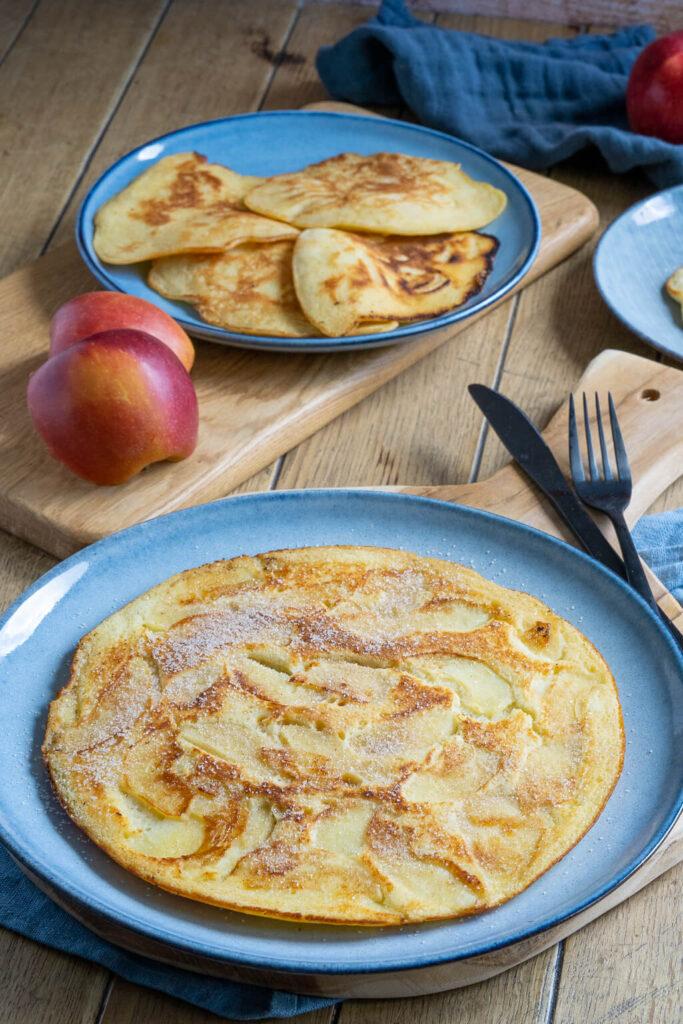 Essen wie bei Mama zuhause - Apfelpfannkuchen mit Zimt und Zucker