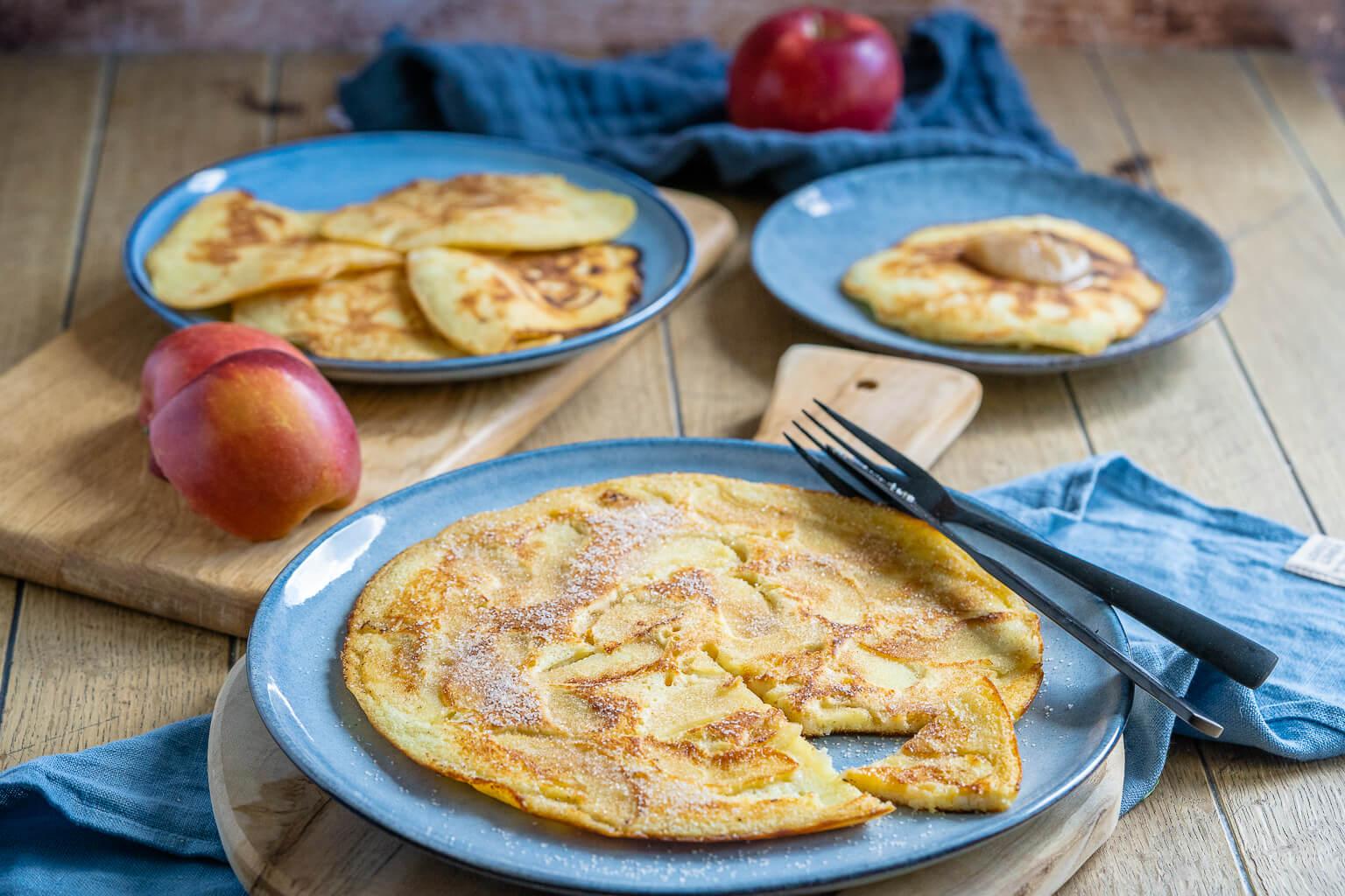 Leckere Apfelpfannkuchen