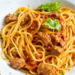 Köstliche Rindfleischpasta mit Spaghetti