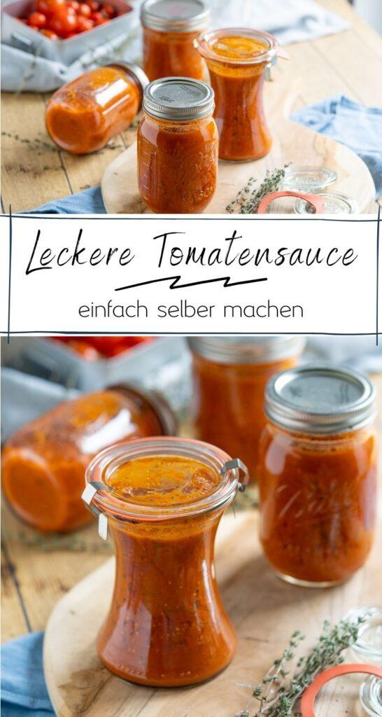Tomatensauce selber machen ist kinderleicht. Koche mit frischen & getrockneten Kräutern, Zwiebeln und Knoblauch deine eigene köstliche Tomatensauce. #tomaten #saisonales