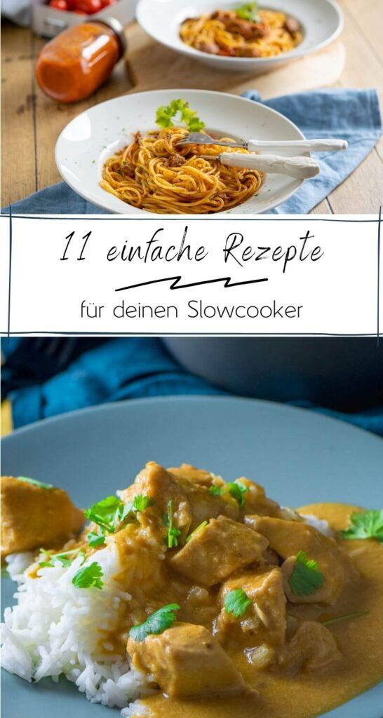 Meine liebsten Gerichte aus dem Slowcooker auf einen Blick: Gulasch, Pulled Chicken, Chili con Carne und viele weitere mega leckere Rezepte #slowcooker