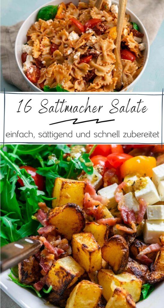 Salate sind gesund - und sollten aber lange sattmachen. Diese 16 einfachen & köstlichen Salate lassen sich schnell zubereiten und machen garantiert satt. Nudelsalat, Bulgursalat, Kartoffelsalat und viele mehr #salat #einfacherezepte