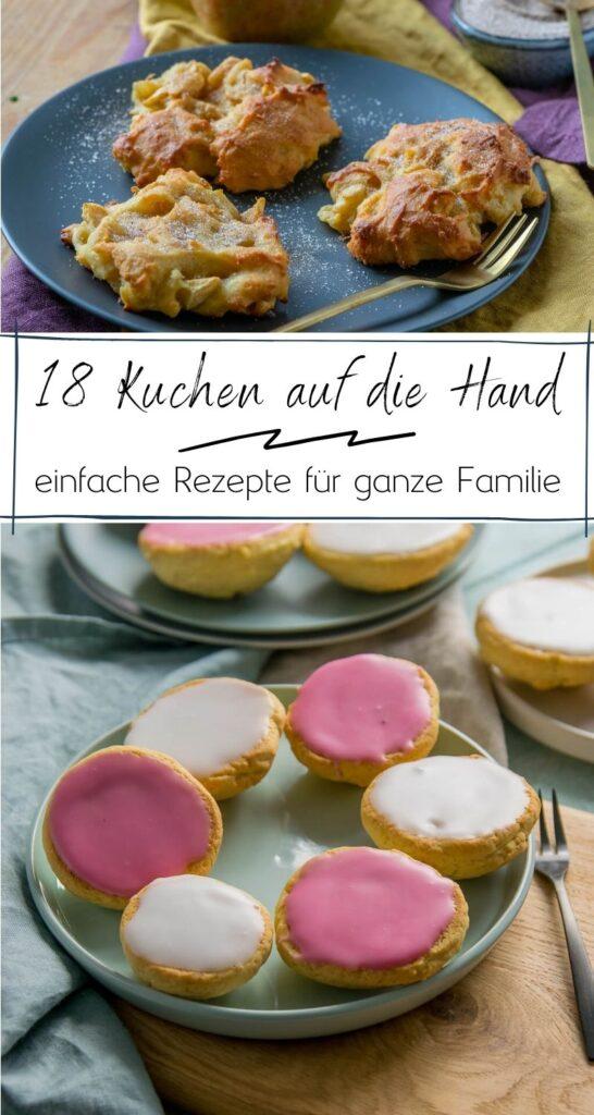 Genieße deine Kuchen ohne Teller und ohne Gabel - einfach direkt auf die Hand. So lieben es nicht nur Kinder. 18 leckere Rezepte für süße & herzhafte Kuchen