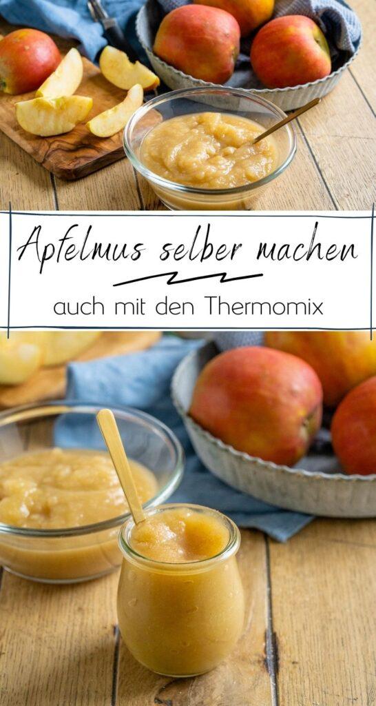 Apfelkompott selber machen - leckeres Apfelkompott mit Zimt. Einfaches Rezept mit Zimt. Im Topf oder im Thermomix. Koche dein Apfelmus direkt auf Vorrat. #apfelernte #herbst #rezepte #äpfel #thermomix