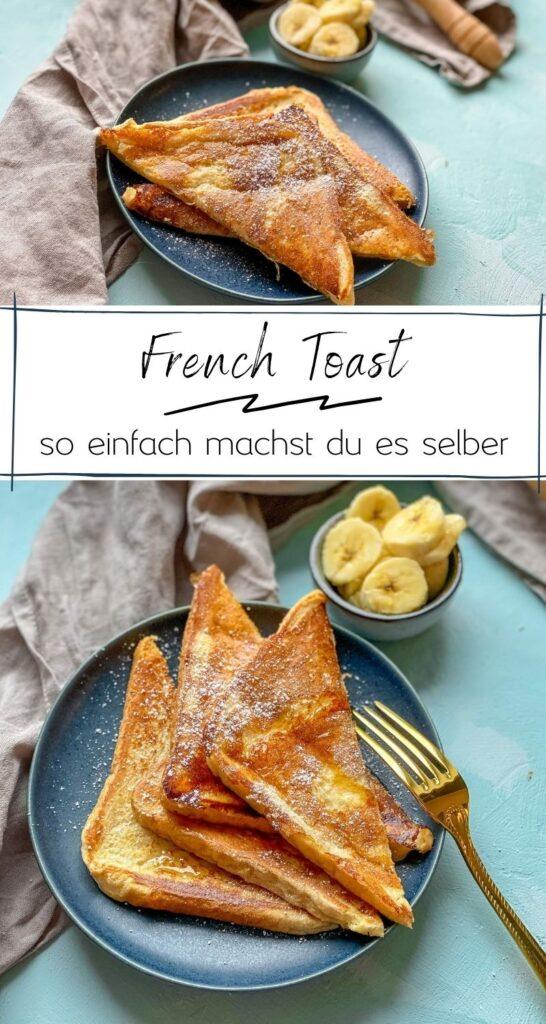 """French Toast sind ein Klassiker und schmecken einfach unwahrscheinlich gut. Viele kennen sie auch als """"Arme Ritter"""". Besonders lecker mit Zimt & Zucker. #frenchtoast #armeritter #frühstück #rezepte #toast"""
