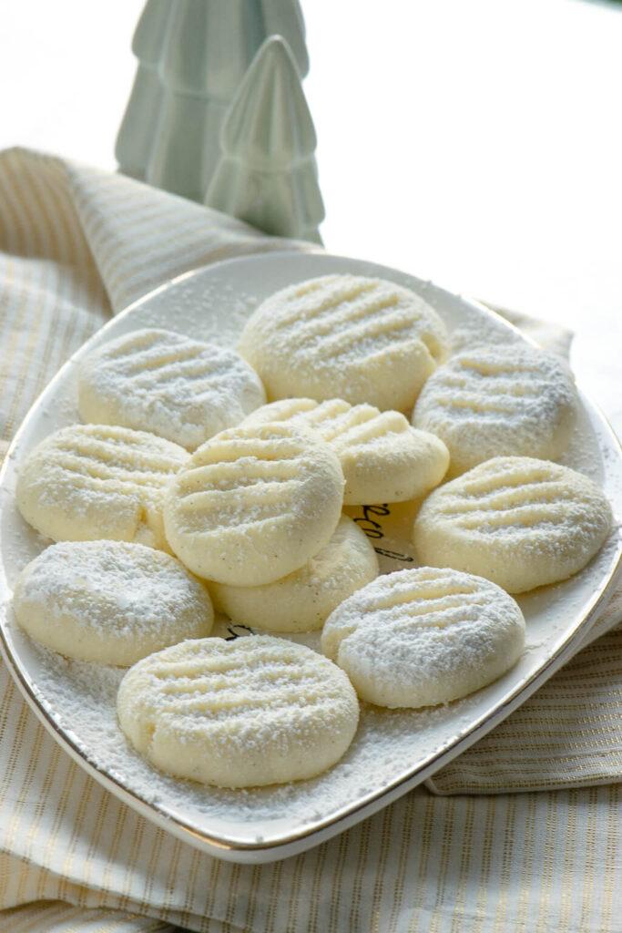 Zarte Schneeflöckchen Kekse