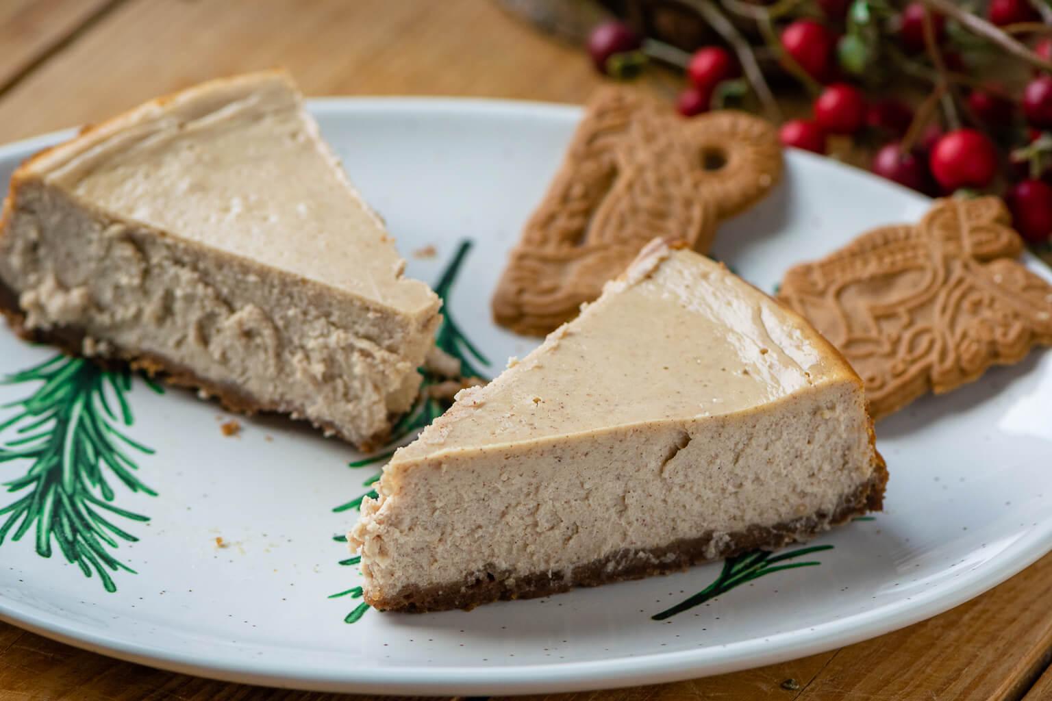 Cremiger Spekulatius New York Cheesecake