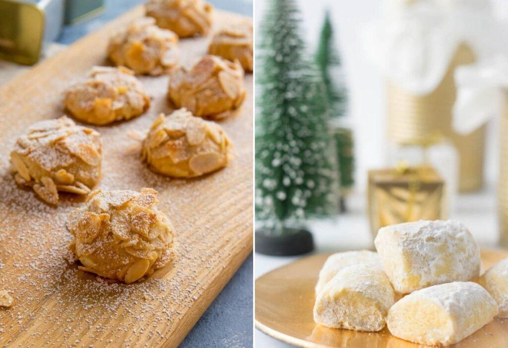 Leckere und sehr beliebte Weihnachtskekse - Marzipanwölkchen und Traumstücke