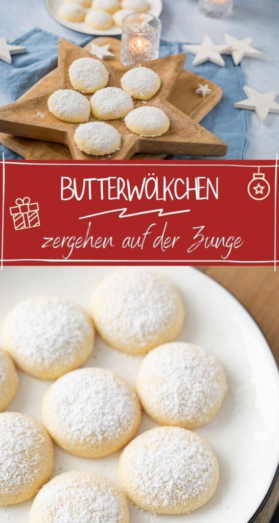 OMG, sind die lecker. Diese mürben Butterwölkchen schmecken einfach so fantastisch nach Vanille und zerfallen auf der Zunge. Niemals hätte ich gedacht, dass so einfache Kekse so köstlich schmecken. #Weihnachten #kekse #backen #weihnachtskekse