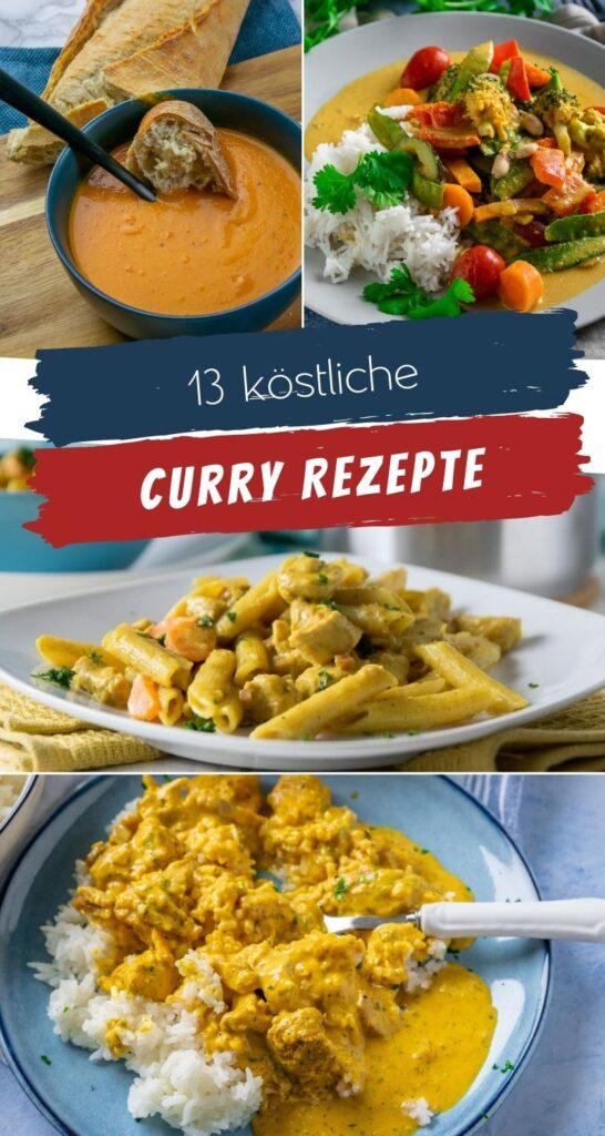 Meine liebsten Curry Rezepte aus der ganzen Welt, einfach zuzubereiten und absolut lecker. Probiere die leckeren Curry Gerichte, sie machen satt & glücklich: Linsensuppe, Currypasta, Erdnussbuttercurry und viele weitere Rezepte... #feierabendküche #curry