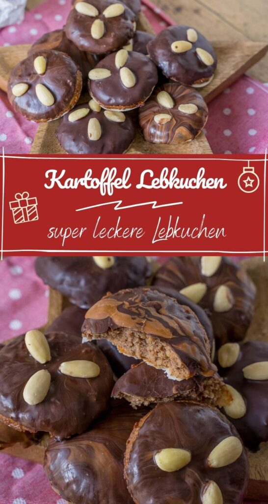 Lebkuchen, super lecker und sehr einfach zu backen. Am besten schmecken sie mit Schokoladenüberzug und Mandeln. #weihnachten #lebkuchen #weihnachtsrezepte