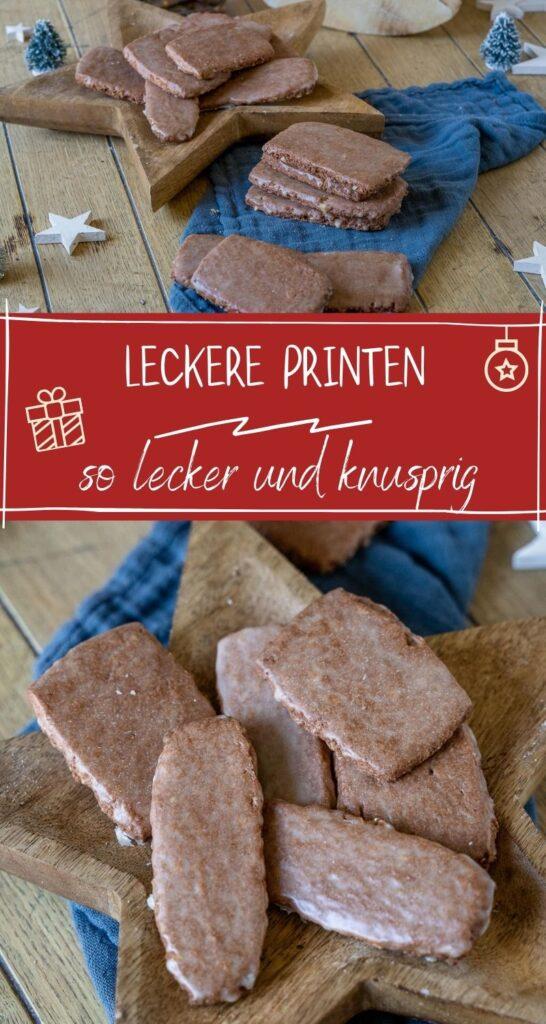 Das Printen-Rezept ist nicht nur köstlich, sondern auch unkompliziert. Die Printen aus Norddeutschland werden ohne Rosinen oder Lebkuchengewürz gebacken. Super einfach und total lecker... Norddeutsches Famlienrezept für Printen. #weihnachten #weihnachtskekse #weihnachtsrezepte #weihnachtsgebäck