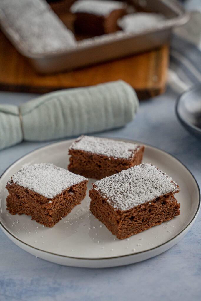 Schokolebkuchen vom Blech - fluffig und vegan