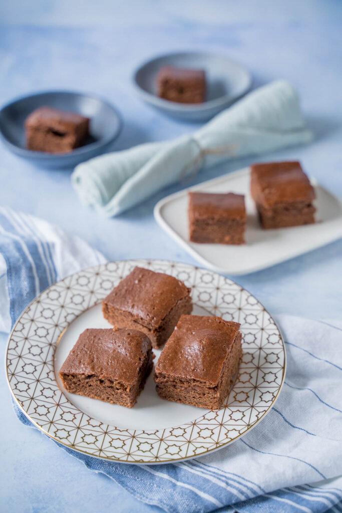 Schoko Lebkuchen aus der Brownieform