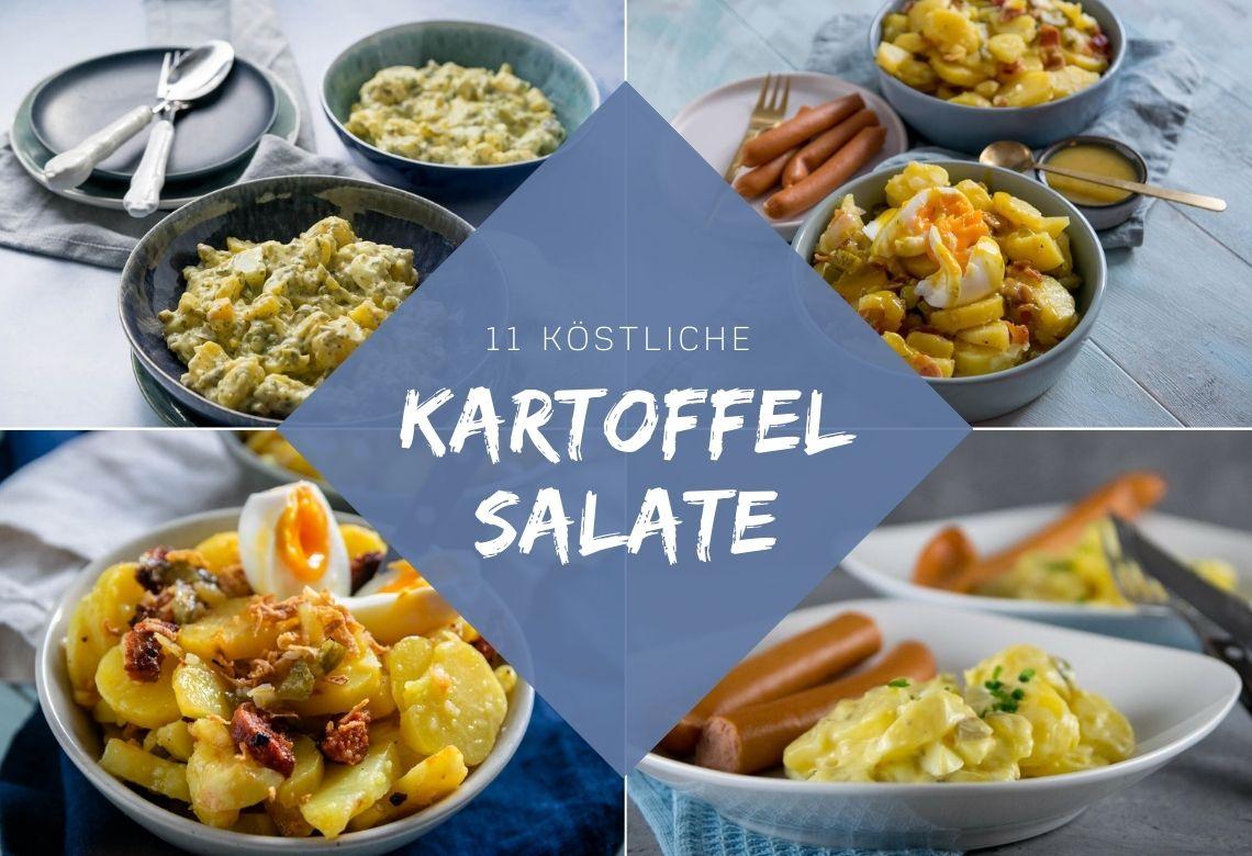 Meine 11 liebsten Rezepte für Kartoffelsalat für Weihnachten. Hier gibt es neben dem Klassiker mit Würstchen auch tolle neue Kartoffelsalate für Heiligabend