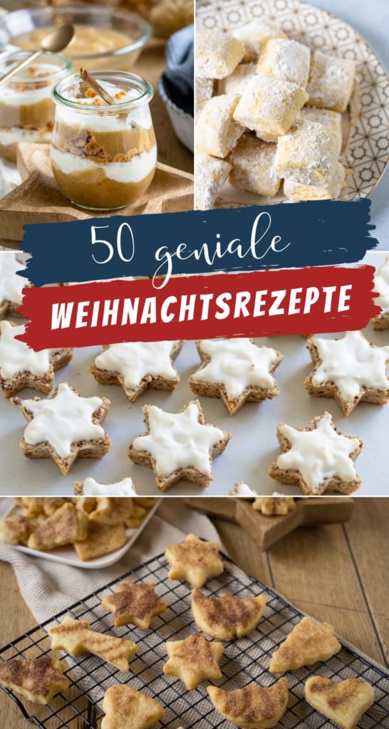 In dieser Liste mit 50 genialen Weihnachtsrezepten, ist für jeden Geschmackt etwas dabei. Tolle weihnachtliche Desserts, Kekse & Kuchen warten auf dich: Lebkuchen, Zimtsterne, Buttergebäck, Makronen und Plätzchen