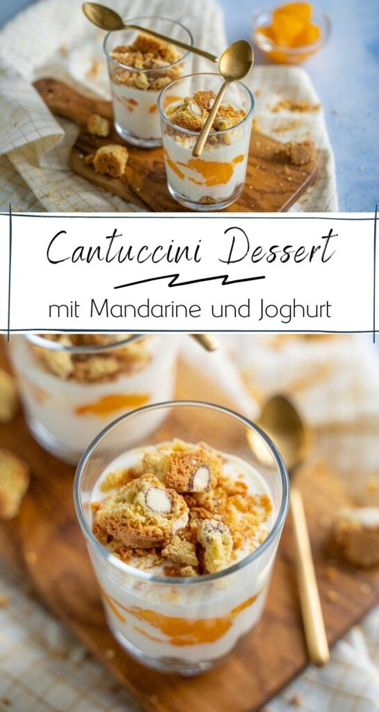 In nur 10 Minuten bereitest du dieses köstliche Dessert vor, das perfekt ist für die Festtage. Leckere Mandelkekse mit cremigem Joghurt und süßen Mandarinen sind eine tolle Ergänzung. #weihnachten