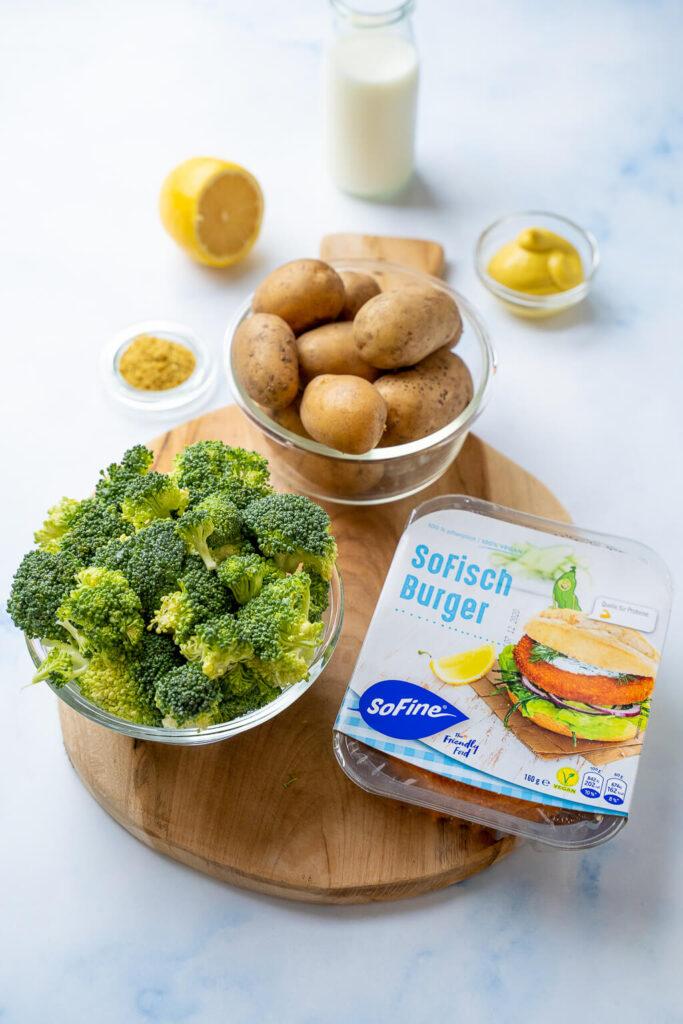 Kinderleichtes Gericht - probiere es aus, die SoFisch Burger Senfkartoffel Bowl mit Brokkoli gelingt garantiert