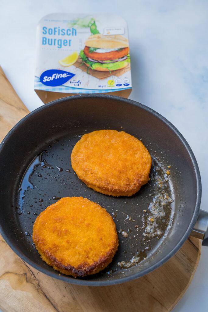 SoFisch Burger in der Pfanne braten