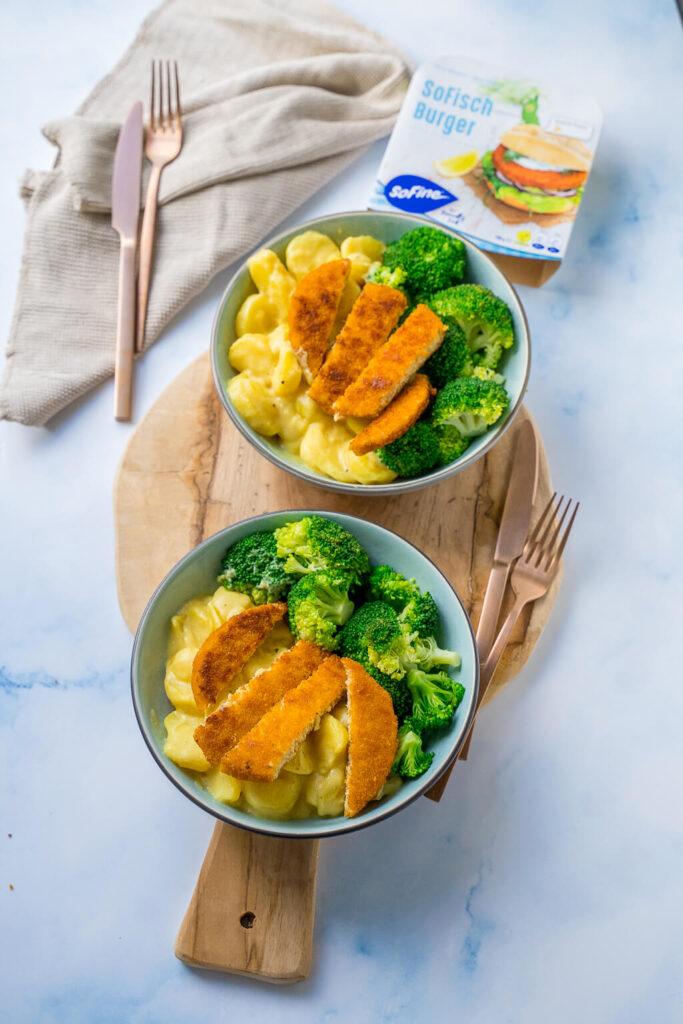 30 Minuten Feierabendküche - Cremige SoFisch Burger Senfkartoffel Bowl mit Brokkoli - mega lecker