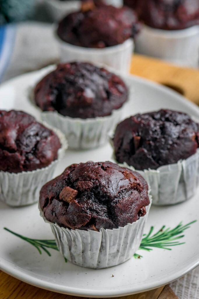 So backst du die köstlichen Lebkuchen Schoko Muffins