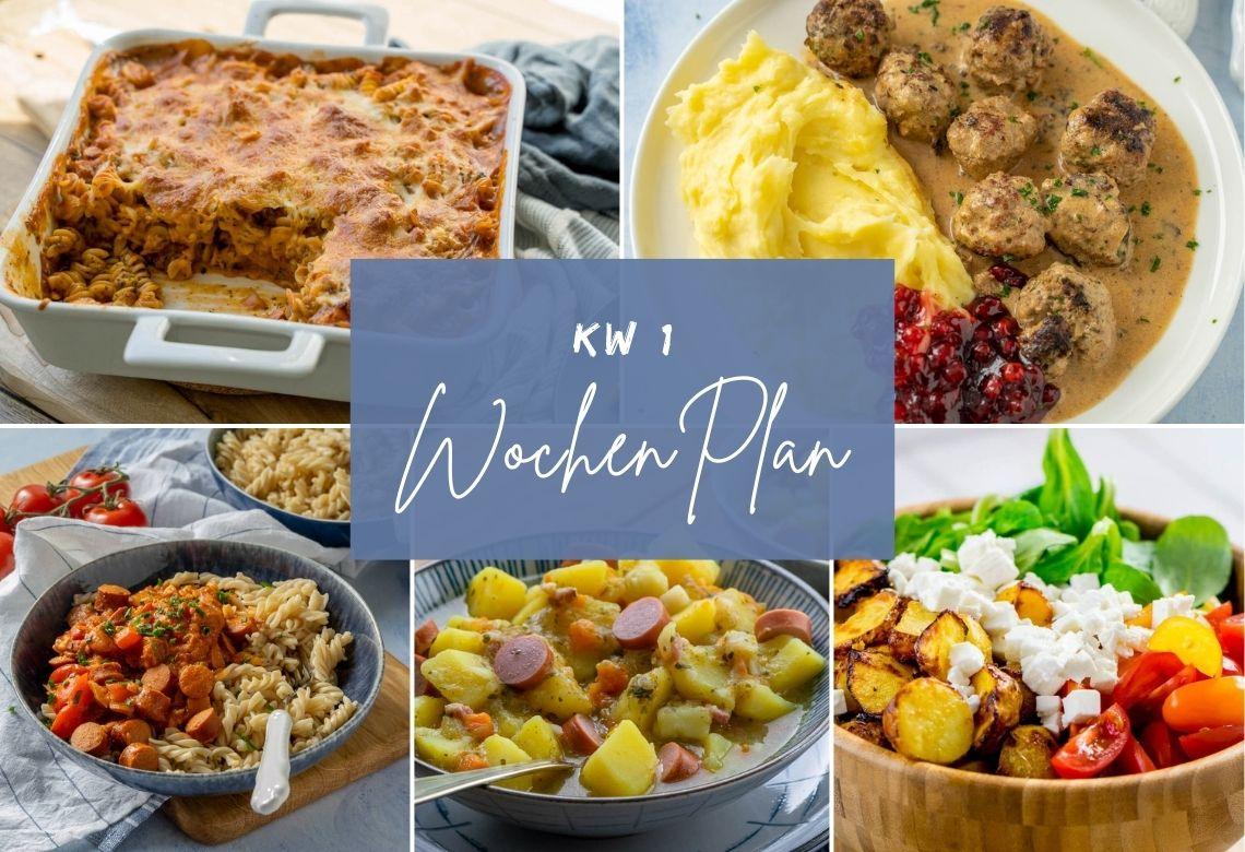 Wochenplan KW 1 - das gibt es zu essen