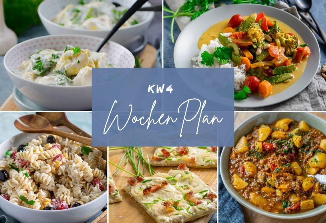 Wochenplan KW 4 – das esse ich diese Woche