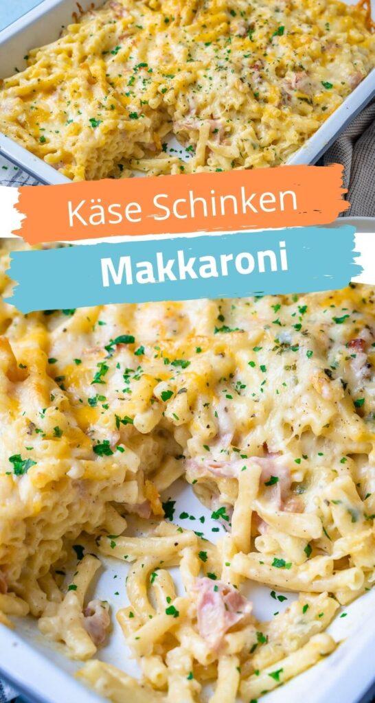 Sehr lecker und ein echter Sattmacher - alle lieben diese Käse Schinken Makkaroni. Perfekter Auflauf für die ganze Familie mit viel Geschmack