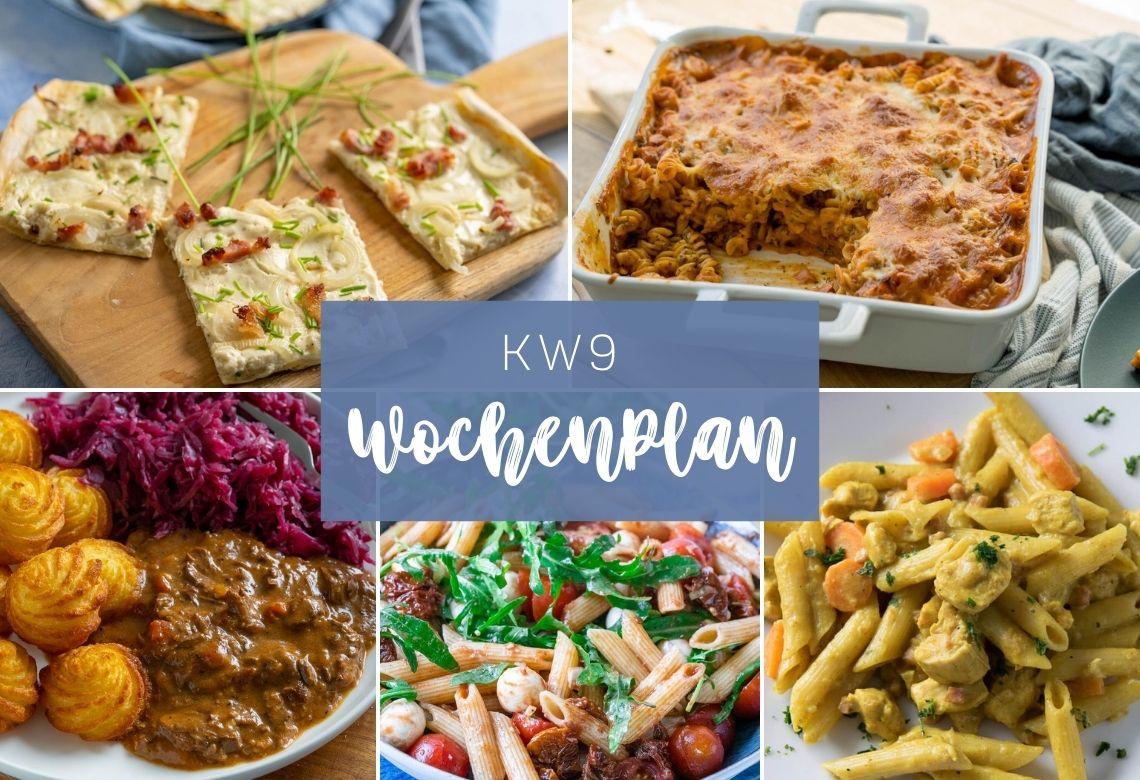 Wochenplan KW 9 - Das esse ich diese Woche - Einfach Malene