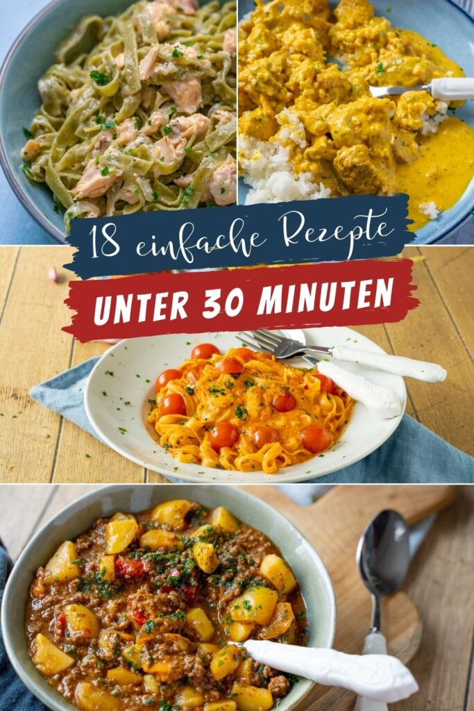 Frisch kochen in unter 30 Minuten? Das klappt wunderbar und schmeckt einfach so viel besser als Kochen mit Fertigprodukten. Einfach & lecker.