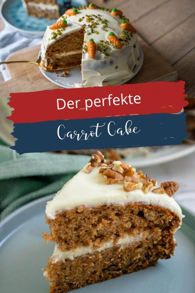 Der beste Carrot Cake der Welt - saftig und voller Nüsse. Mit super leckerem Frischkäse Frostig - der perfekte Kuchen für das Osterfest